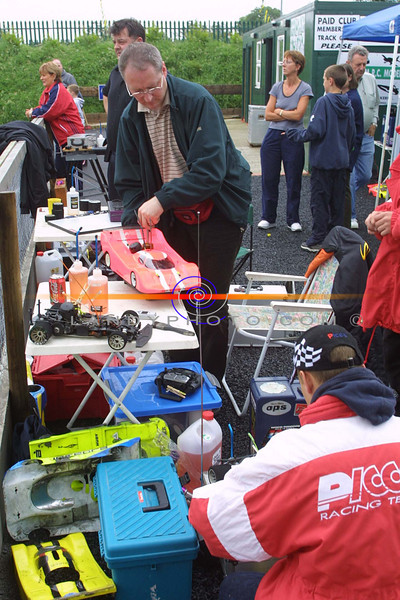 Frantic action in the Pits of the Kingdom RC Model Club Track as a round of teh Irish National 1/8th and 1/10th championships was held  at the weekend.<br /> Pic Brendan Landy